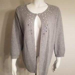 Old Navy Maternity 3/4 Rhinestone Cardigan Sweater